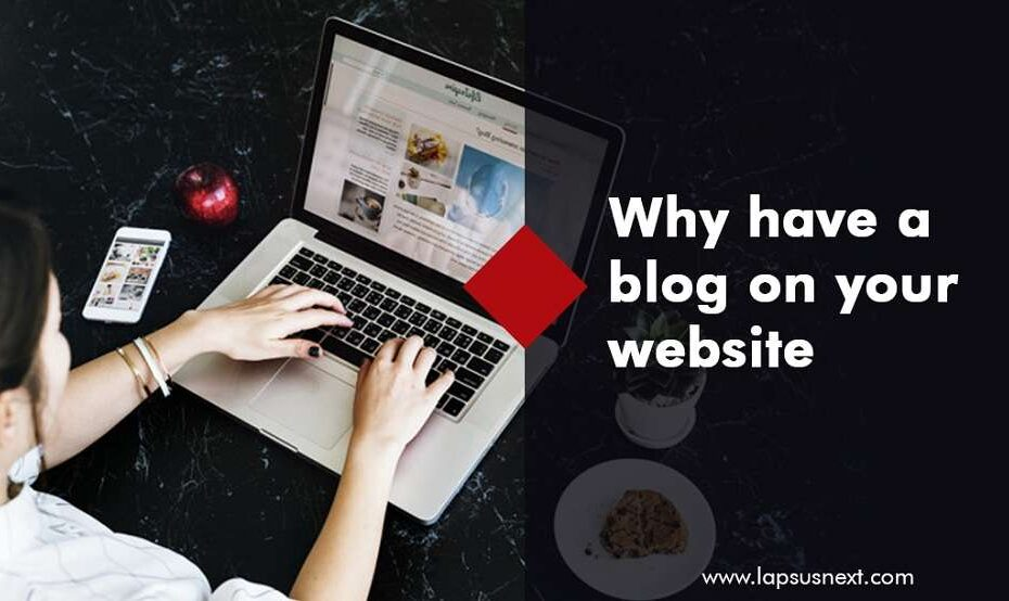 Why have a blog on website Image.